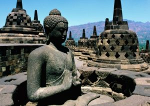 Relief Patung Budha Candi Borobudur