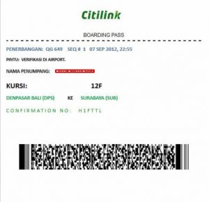 Boarding Pass Online Citilink