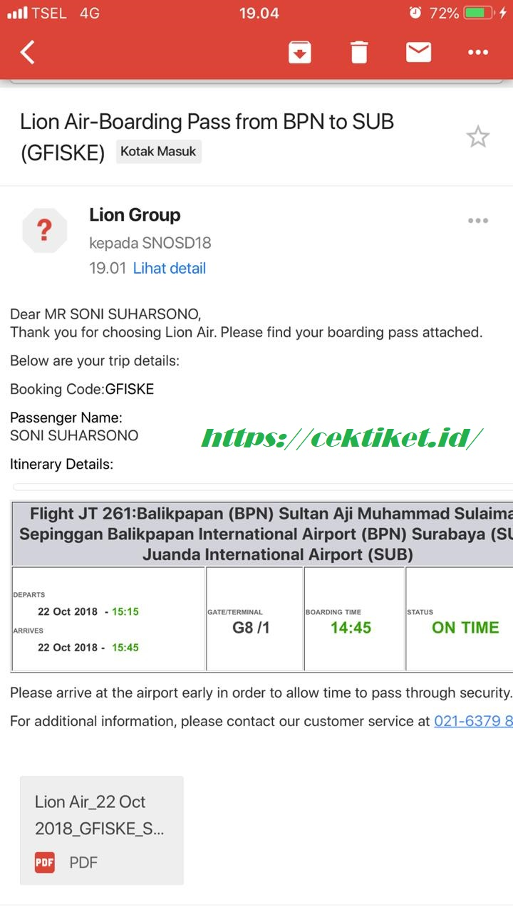 Email Boarding Pass