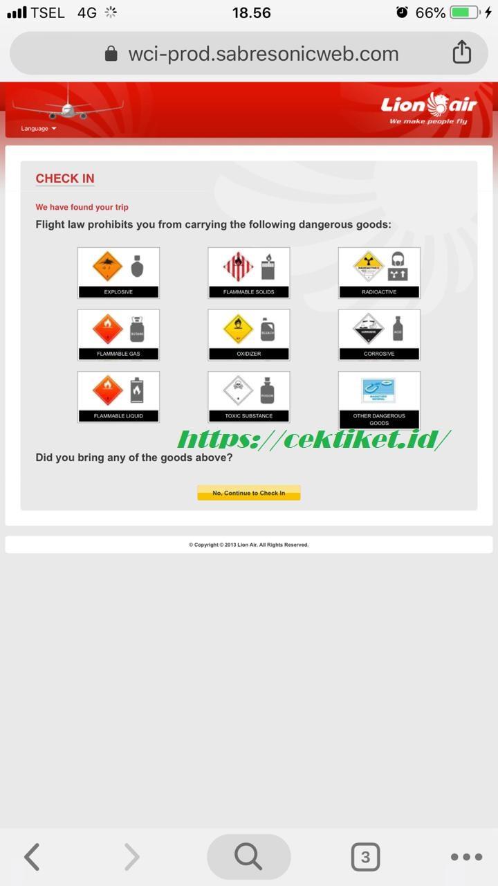 Peraturan Barang Bawaan Lion Air
