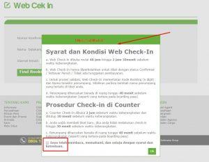 Syarat dan Kondisi Web Check In Citilink