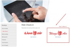 Web Check In Online Wing Air